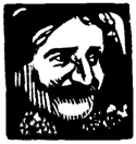 Woodcut of Baba